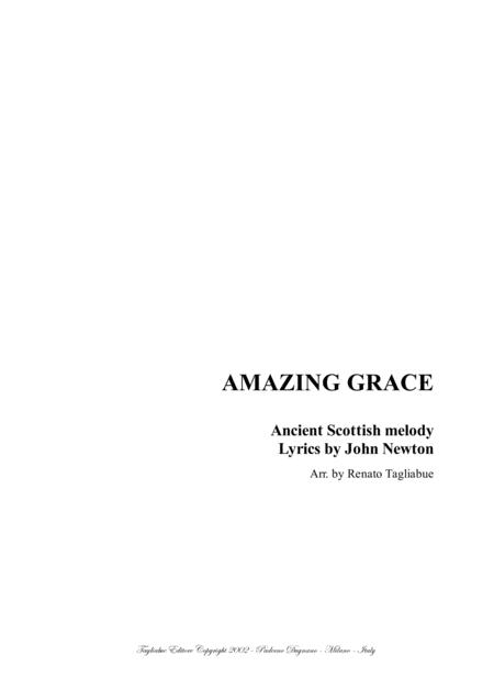 AMAZING GRACE -  Arr. for Solo and SAB Choir