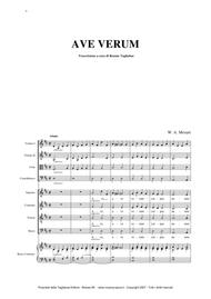 AVE VERUM - W.A. Mozart - Full Choir and Orchestra - With separate parts of Choir SATB, String Orchestra and Organ