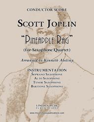 "Joplin - ""Pineapple Rag"" (for Saxophone Quartet SATB)"