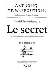 Le Secret, Op. 23 no. 3 (E-flat major)