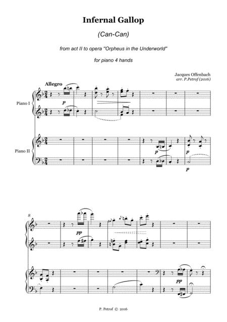 Offenbach - Infernal Gallop (Can-Can) - piano 4 hands