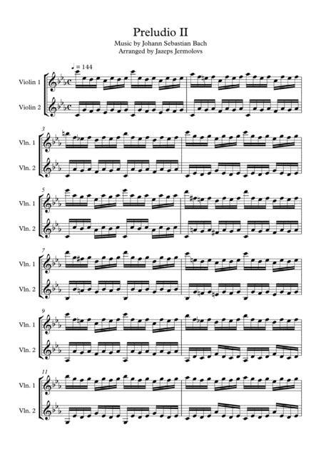 Prelude c minor for 2 violins