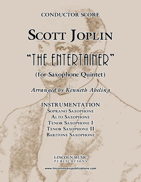 "Joplin - ""The Entertainer"" (for Saxophone Quintet SATTB)"