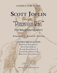 "Joplin - ""Pineapple Rag"" (for Saxophone Quintet SATTB)"