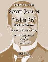 "Joplin - ""Fig Leaf Rag"" (for String Quartet)"
