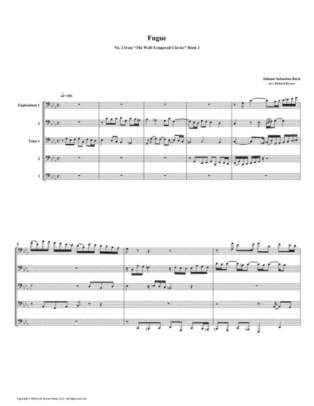 Fugue 02 from Well-Tempered Clavier, Book 2 (Euphonium-Tuba Quintet)