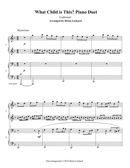 Advanced Christmas Duets for Piano