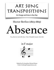 Absence, Op. 7 no. 4 (F major)
