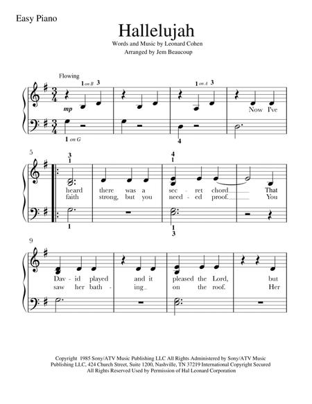 picture regarding Hallelujah Piano Sheet Music Free Printable known as Down load Hallelujah Sheet Audio As a result of Leonard Cohen - Sheet