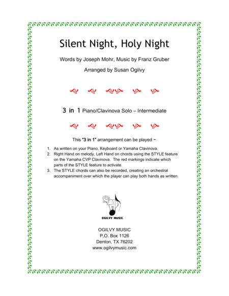 Preview Silent Night Holy Night By Words By Joseph Mohr Music By
