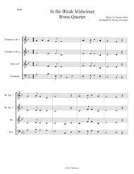 In the Bleak Midwinter for Brass Quartet