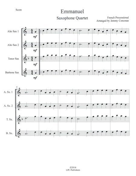 Oh Come, Emmanuel for Saxophone Quartet (SATB or AATB)