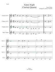 Silent Night for Clarinet Quartet
