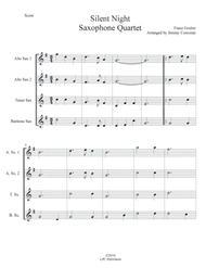 Silent Night for Saxophone Quartet (SATB or AATB)