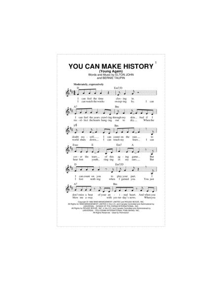 You Can Make History (Young Again)