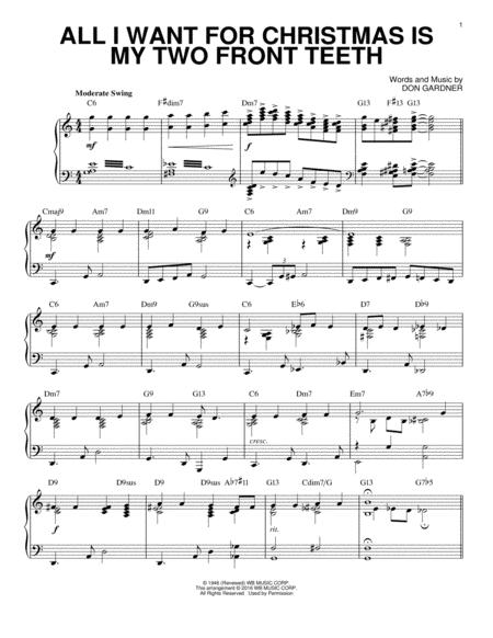 All I Want For Christmas Is My Two Front Teeth (arr. Brent Edstrom) [Jazz version]