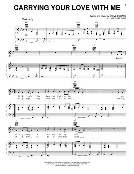 Download Carrying Your Love With Me Sheet Music By George Strait