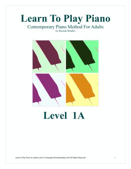 Learn to Play Piano Easy Adult piano lesson book