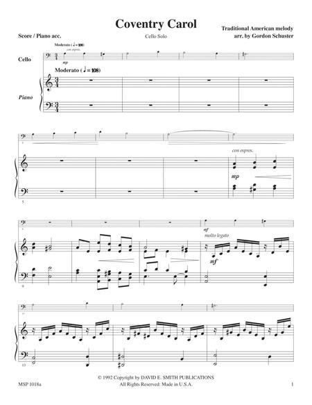 Three Christmas Solos - Cello, Vol. 1