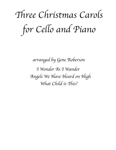 Three Christmas Carols for CELLO and PIANO