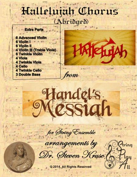 Hallelujah Chorus from the Messiah for Mixed-Level String Ensemble, Extra Parts
