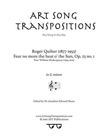 Fear no more the heat o' the Sun, Op. 23 no. 1 (G minor)