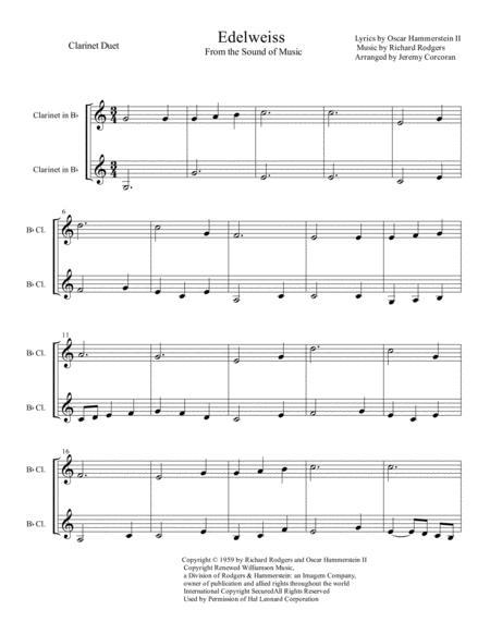 Edelweiss Clarinet Duet