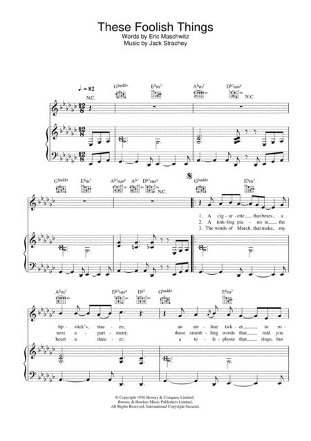 Download These Foolish Things Sheet Music By Rod Stewart - Sheet ...