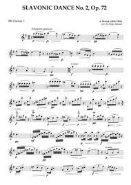 Slavonic Dance No. 2 Op. 72 for Clarinet Quartet