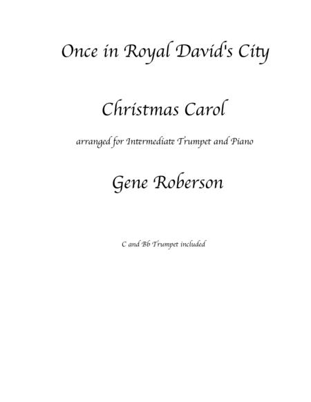 Once in Royal David's City TRUMPET Solo