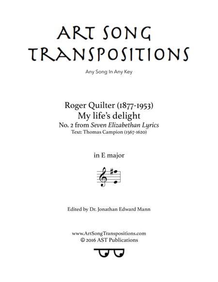 My life's delight, Op. 12 no. 2 (E major)