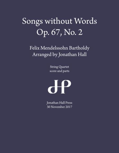 Mendelssohn: Songs without Words, Op 67 No 2