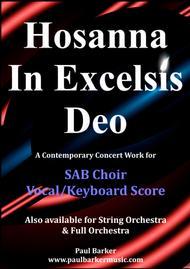Hosanna In Excelsis (SAB Choir & Keyboard)