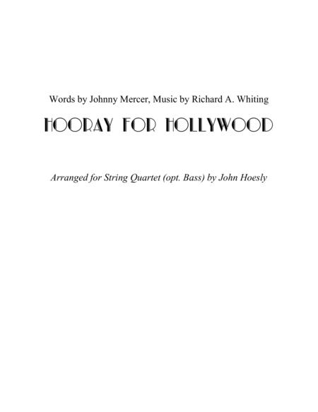 Hooray For Hollywood- string quartet (opt. bass)