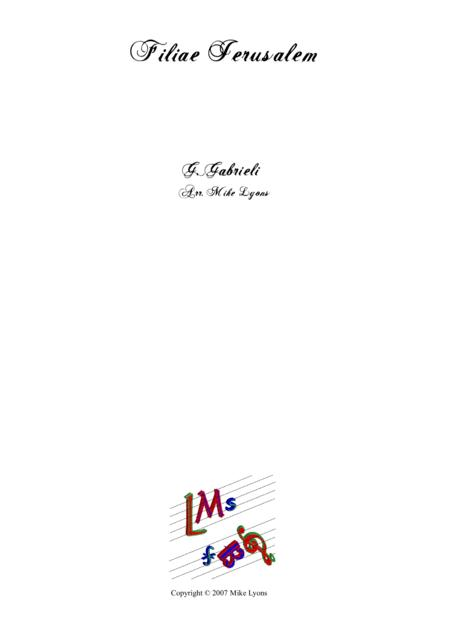 Filiae Jerusalem - Giovanni Gabrieli (Brass Quartet)