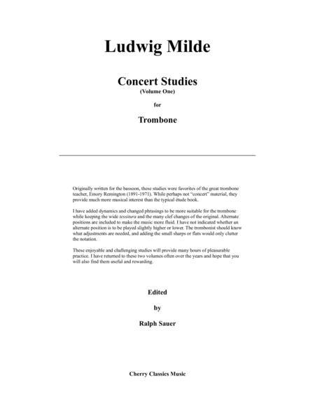 Milde Concert Studies for Trombone Volume 1