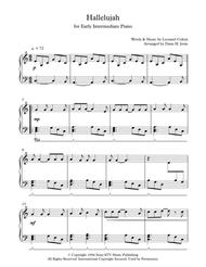 picture relating to Hallelujah Piano Sheet Music Free Printable identify Down load Hallelujah For Early Intermediate Piano Sheet Songs