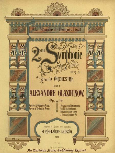 Symphony no 2, op. 16 in F# minor