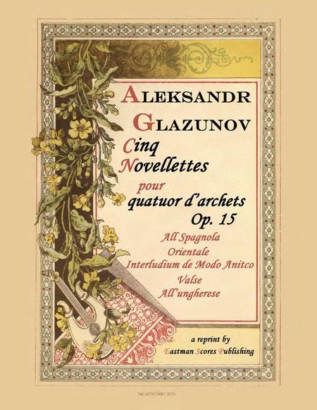 Five novellettes, for string quartet, op. 15