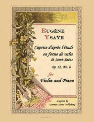 Caprice d'apres l'Etude en forme de valse de Saint-Saens