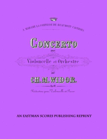 Concerto pour violoncelle et orchestre, op. 41, reduction pour violoncelle et piano