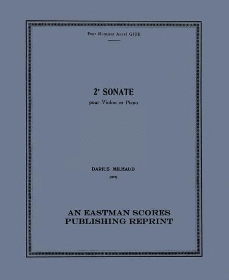 2e sonate, pour violon et piano