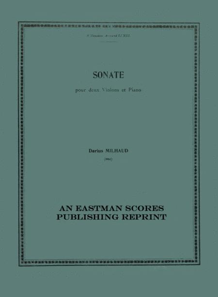 Sonate pour deux violons et piano