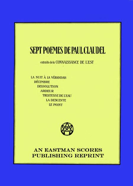 Sept poemes de Paul Claudel : extraits de la Connaissance de l'est