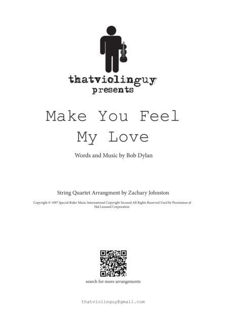 Make You Feel My Love for string quartet