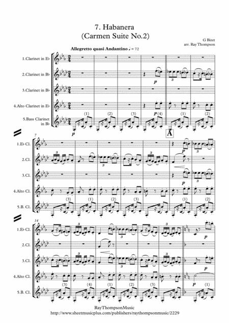 Bizet: Habanera (Carmen Suite No.2) - clarinet quintet