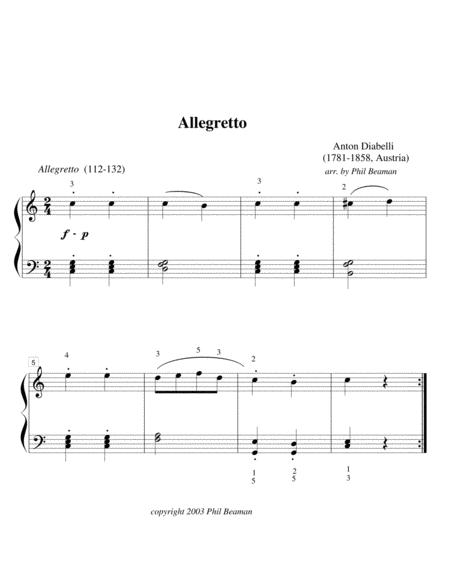 Allegretto - piano solo