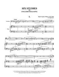 Six Studies in English Folksong arranged for Trombone & Piano