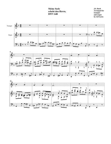 Meine Seele erhebt den Herrn, BWV 648 (arrangement for trumpet and organ)