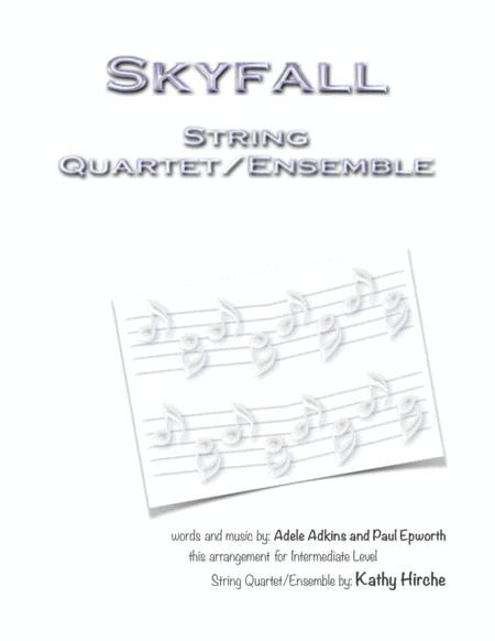 Skyfall - String Quartet/Ensemble